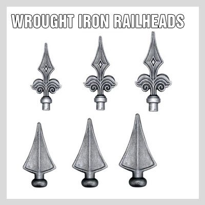WROUGHT IRON RAILHEADS