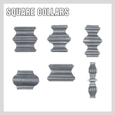 WROUGHT IRON SQUARE COLLARS