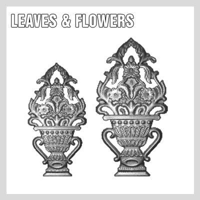 WROUGHT IRON LEAVES & FLOWERS